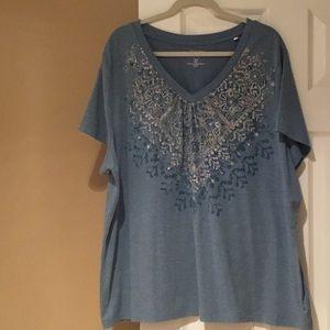 Sonoma V-neck T-shirt Size 3X